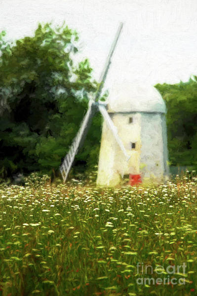 Fuel Element Photograph - Windmill In The Meadow by Mike Nellums