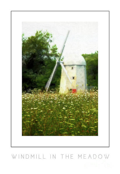 Fuel Element Photograph - Windmill In The Meadow Poster by Mike Nellums