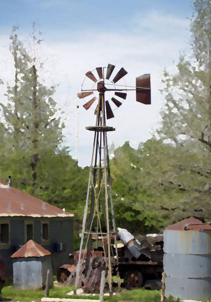 Photograph - Windmill by James Granberry