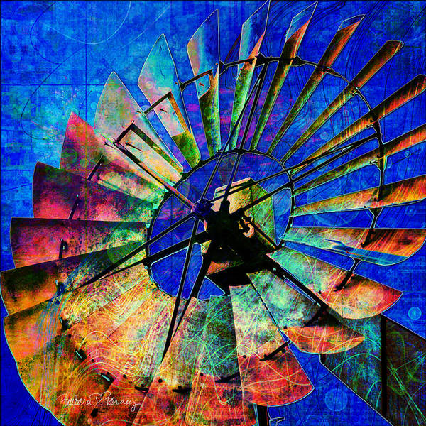 Digital Art - Windmill Power by Barbara Berney