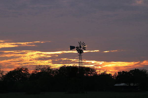 Photograph - Windmill Sunset On The Farm by Sheila Brown