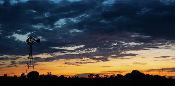 Wall Art - Photograph - Windmill Sunset by Steve Gadomski