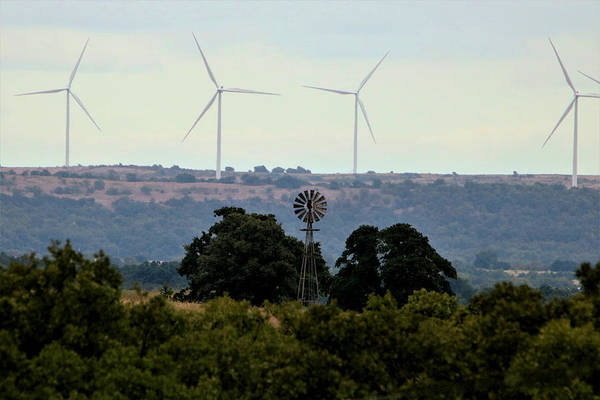 Photograph - Windmills Old And New by Sheila Brown