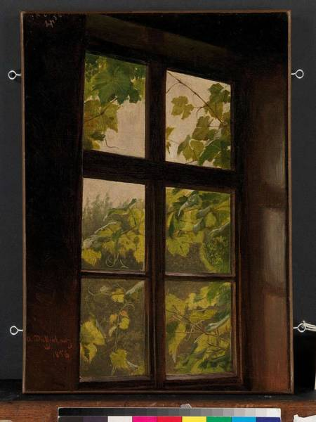 Painting - Window , Anton Dieffenbach by Artistic Panda