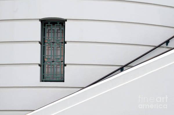Handrail Photograph - Window And Rail by Dan Holm
