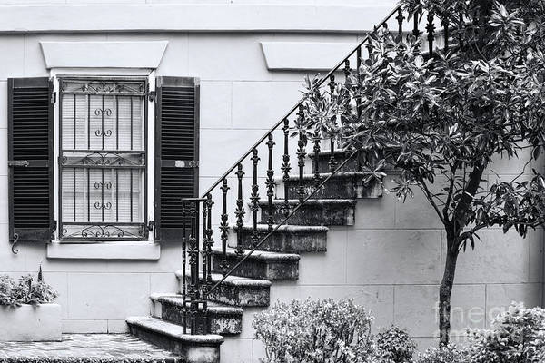 Photograph - Window And Staircase by Les Palenik