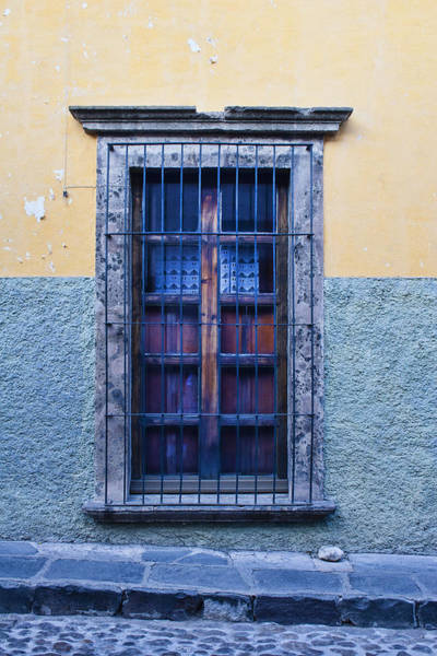 San Miguel De Allende Wall Art - Photograph - Window And Textured Wall by Carol Leigh