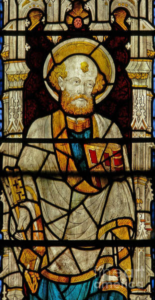 Wall Art - Glass Art - Window Depicting St Peter by English School