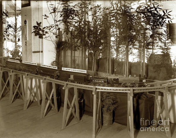Photograph - Window Display Of Miniature Railroad At The White House Of Christmas 1916 by California Views Archives Mr Pat Hathaway Archives