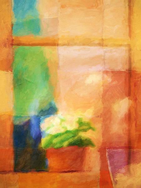 Painting - Window Flower by Lutz Baar