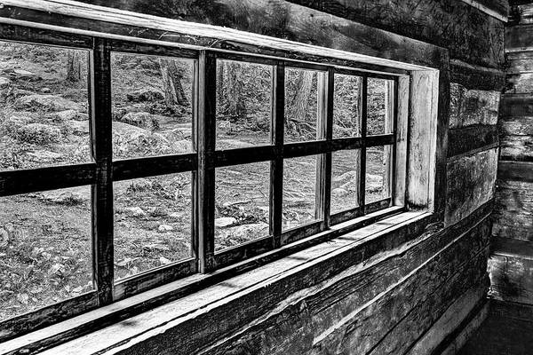 Photograph - Window From An Old Old House In Black And White by Kay Brewer