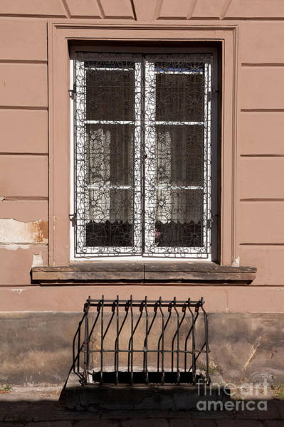 Wall Art - Photograph - Window Grating At New Town by Arletta Cwalina
