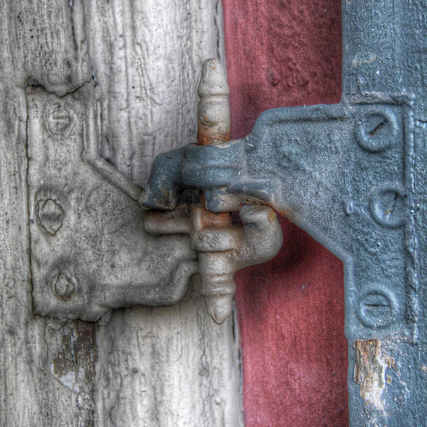 Photograph - Window Hinge by Michael Kirk