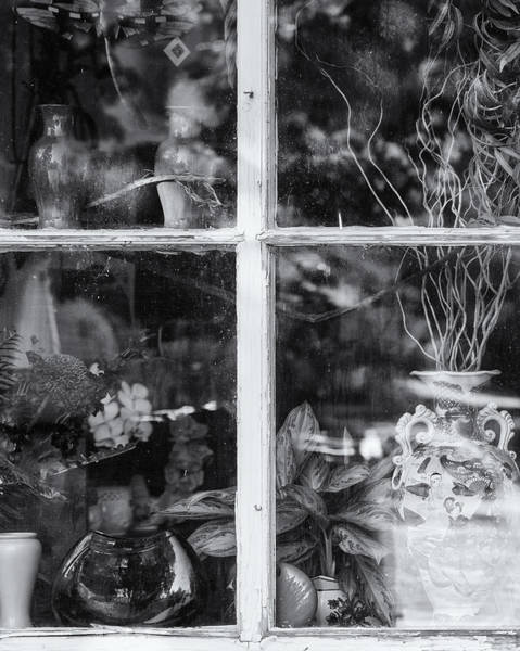 Photograph - Window In Black And White by Tom Singleton