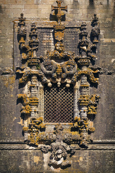 Wall Art - Photograph - Window In Convent Of Christ - Tomar by Carlos Caetano