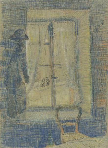 Painting - Window In The Bataille Restaurant Paris, February - March 1887 Vincent Van Gogh 1853 - 1890 by Artistic Panda