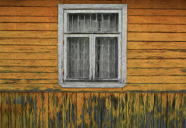 Window In The Old House Art Print