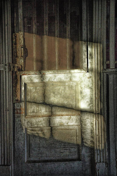 Photograph - Window Light And Shadows On Locked Door by Randall Nyhof