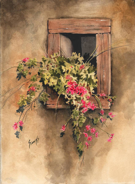 Window Frame Painting - Window Niche by Sam Sidders