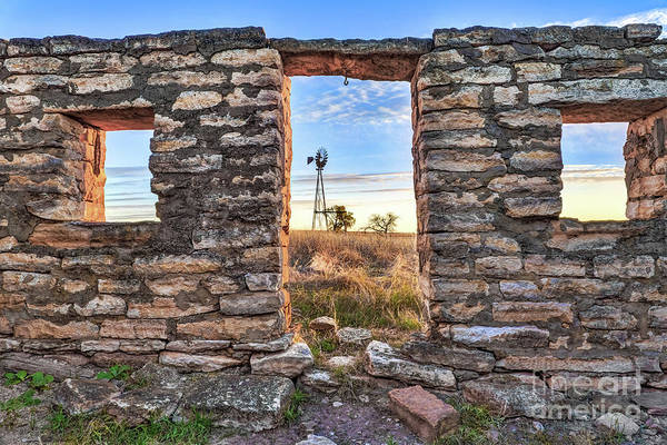 Farmstead Photograph - Window On The Prairie by Jill Van Doren Rolo