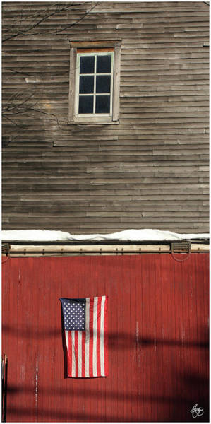 Photograph - Window Over A Flag by Wayne King