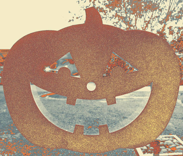 Photograph - Window Pumpkin #1 by Anne Westlund