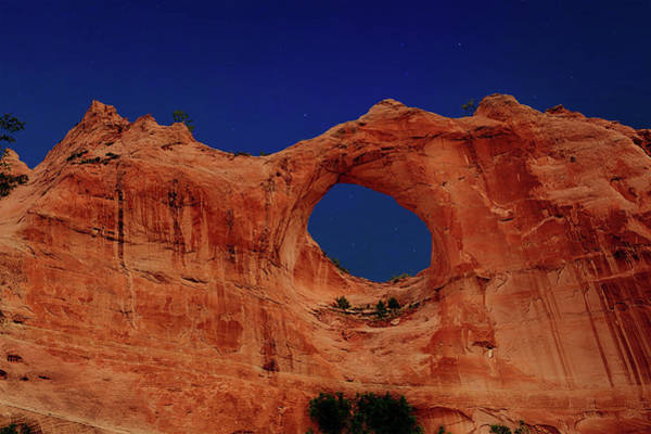 Photograph - Window Rock Light Painted by Mike Stephens
