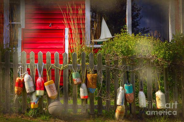 Photograph - Window Sailboat Buoy by Craig J Satterlee