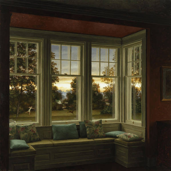 Painting - Window Seat by Harry Steen