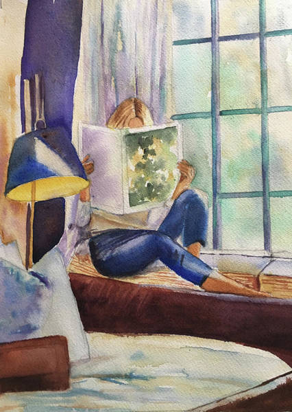 Painting - Window Seat by Lynne Atwood
