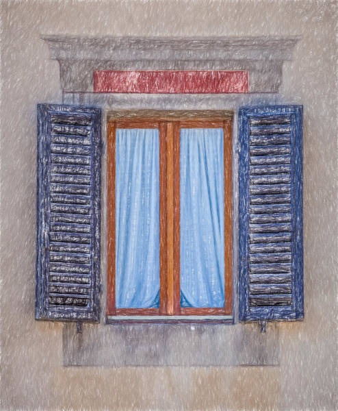 Photograph - Window Sketch Of Tuscany by David Letts