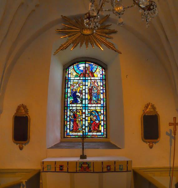 Photograph - Window Teda Church by Leif Sohlman