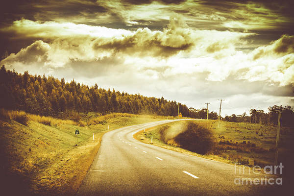 Evergreens Photograph - Window To A Rural Road by Jorgo Photography - Wall Art Gallery