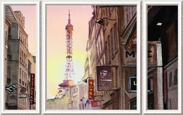 Painting - Window To Paris by Irina Sztukowski