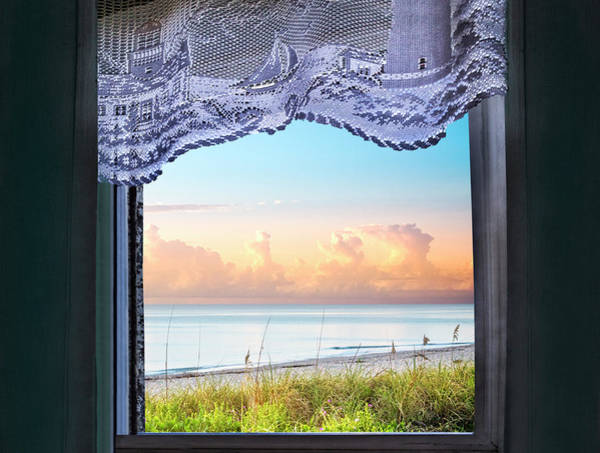 Photograph - Window To The Beach by Debra and Dave Vanderlaan