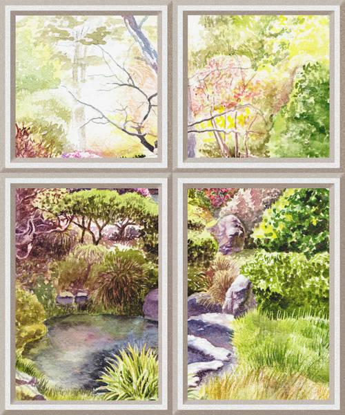Painting - Window To The Garden by Irina Sztukowski