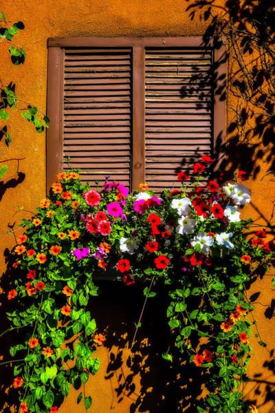 Window Box Photograph - Windowbox Flowers Santa Fe by Garry Gay