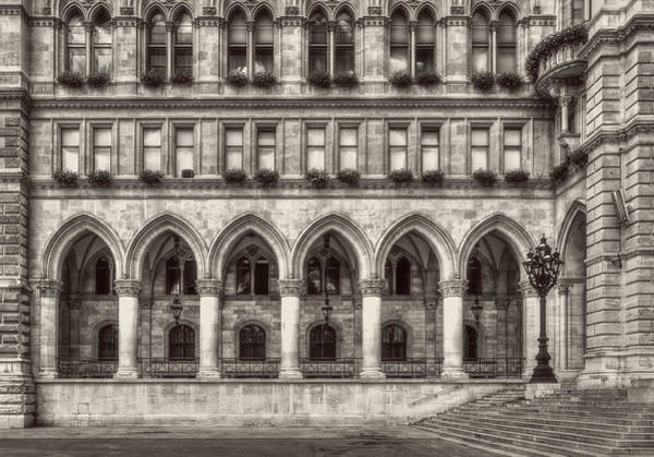 Photograph - Windows, Arches And Street Lamp by Roberto Pagani