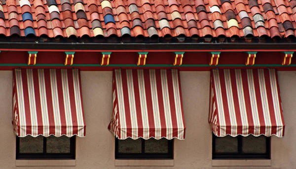 Country Club Plaza Photograph - Windows - Awnings - Tiles by Nikolyn McDonald