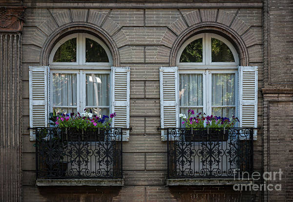 Wall Art - Photograph - Windows In Toulouse by Elena Elisseeva