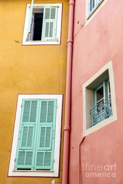 Shutters Photograph - Windows In Villefranche-sur-mer by Elena Elisseeva