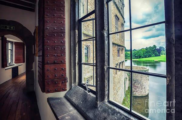 Photograph - windows of Leeds Castle by Ariadna De Raadt
