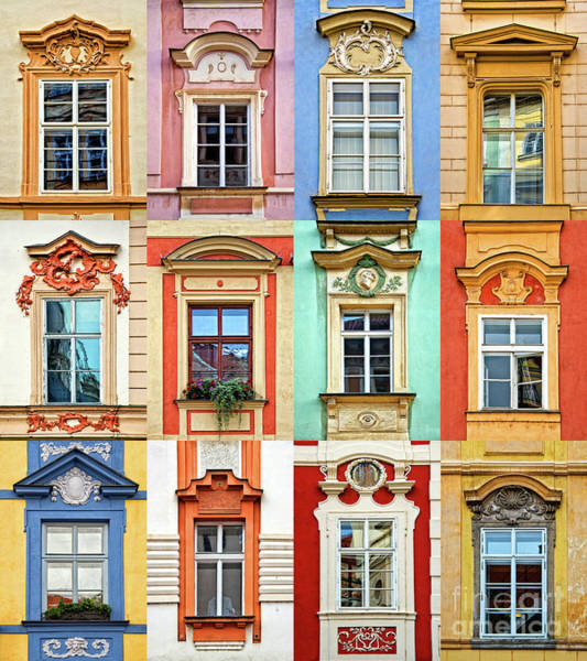 Wall Art - Photograph - Windows Of Prague by Delphimages Photo Creations