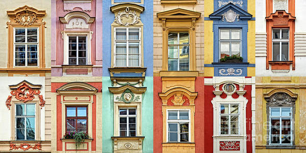 Wall Art - Photograph - Windows Of Prague - Horizontal by Delphimages Photo Creations