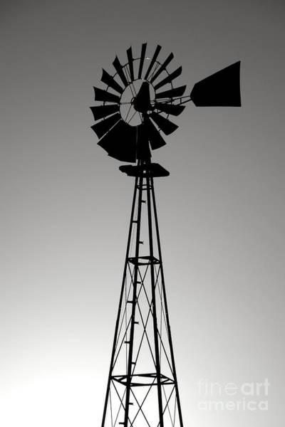 Photograph - Windpump by Olivier Le Queinec