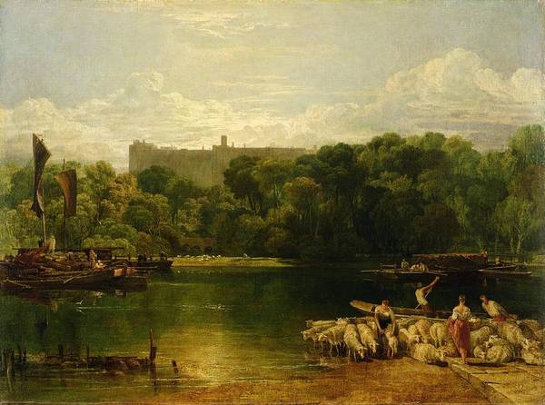 The Shepherdess Wall Art - Painting - Windsor Castle From The Thames by Joseph Mallord William Turner