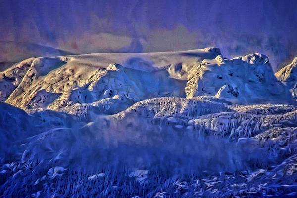 Digital Art - Windstorm On Comox Glacier by Richard Farrington