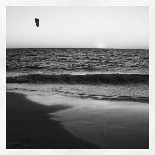 Romantic Wall Art - Photograph - Windsufer B And W by Dave  Cassidy