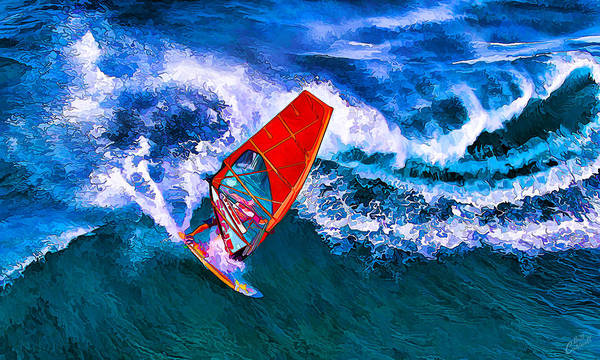 Photograph - Windsurfer Joy by ABeautifulSky Photography by Bill Caldwell
