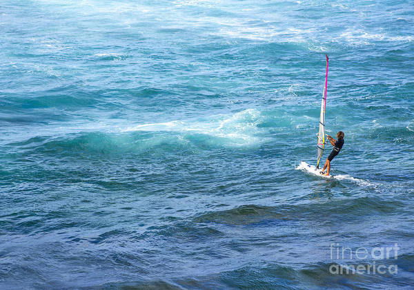 Windsurfing Photograph - Windsurfer In Maui Hawaii by Diane Diederich